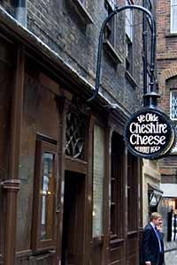 Ye Olde Cheshire Cheese - You know you're in the London of Dr. Johnson and Charles Dickens when you drop into this famous pub.