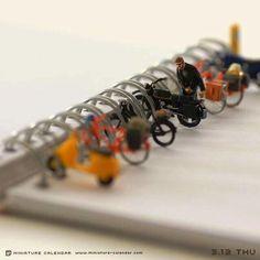 Miniature Art Sculptures Estacionamento