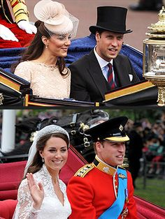 William and Kate take first carriage ride since wedding. Aww...what a way to travel!  http://www.people.com/people/package/article/0,,20395222_20601225,00.html