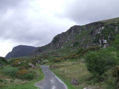 The Gap of Dunloe was formed from the last ice age over 10,000 years ago. The glacier tore through mountains and formed this valley. Rocks from the broken mountains lay throughout the terrain. Rough and beautiful land.