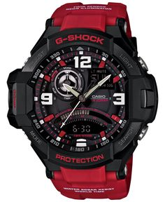 G-Shock Men's Analog-Digital Red Resin Strap Watch 51x52mm GA1000-4B - Watches - Jewelry & Watches - Macy's