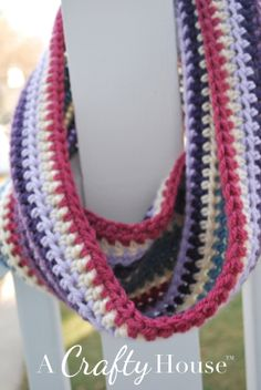 Scrap Yarn Crochet Cowl Pattern A Crafty House: Knitting and Crochet ...