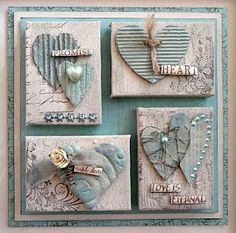 Mini canvases made by Sue from Paper Paradise