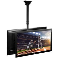 Mount It Adjule Dual Screen Tv Ceiling For 37 Inch To 70