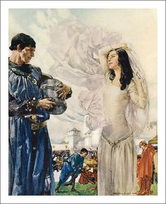 Le morte Darthur: the book of King Arthur and of his noble knights of the Round table. By Sir Thomas Malory, Knt. London. Philip Lee Warner. Publisher to the Medici Society, ltd., 1910. Illustrator William Russell Flint.