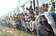Overcrowding of trains is a common feature of Indian Railways, evident from this photo taken on Tuesday in Patna.