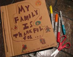 DIY: Thanksgiving Family Gratitude Journal I am going to do this this year Thanksgiving Crafts, Fall Crafts, Holiday Crafts, Holiday Fun, Crafts For Kids, Thanksgiving Activities, Thanksgiving Traditions, Craft Kids, Family Thanksgiving