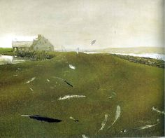 Airborne by Andrew Wyeth   Tempera on panel, c. 1996