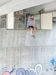 Secret studio under a bridge by Fernando Abellanas