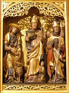 Altar of the Doctors of the Church, 1510-1520 author of the statues: Master Paul of Levoča author of the paintings: Master Petrus  location: Šariš, eastern Slovakia  for educational purpose only  please do not use without permission  AMDG