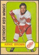 1972 Topps Regular (Hockey) Card# 111 Arnie Brown of the Detroit Red Wings Ex Condition by Topps. $1.00. 1972 Topps Regular (Hockey) Card# 111 Arnie Brown of the Detroit Red Wings Ex Condition