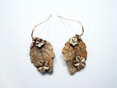 Zandstorm: Blad in bronsklei [cursist] (Bronsklei,hangers)