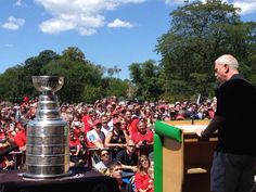 John McDonough's day with the cup in Edison Park