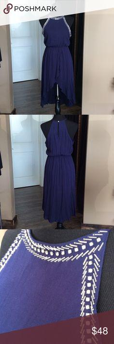 Navy highlow dress 100% polyester Dresses High Low