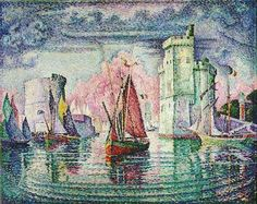 Paul Signac - Port de La Rochelle #art #Signac #postimpressionism