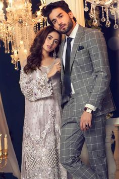 Maria B Couture Latest Fancy Formal Wedding Dresses consisting of beautiful luxury embroidered party & wedding wear suits designs with modern cuts! Pakistani Bridal Dresses, Pakistani Wedding Dresses, Formal Dresses For Weddings, Formal Wedding, Pakistani Outfits, Wedding Wear, Shadi Dresses, Royal Dresses, Couple Photoshoot Poses