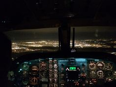 Flying into Montreal at night