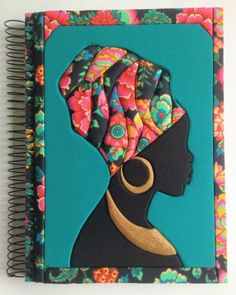 Notebook with built-in patchwork! This Fall/Winter trend shown at London Trend Week had taken Patchwork Quilt Patterns, Applique Quilts, Hobbies And Crafts, Arts And Crafts, African Quilts, African Art Paintings, African Crafts, Mosaic Art, Felt Crafts