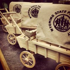 Adorable Mini Wagons, the wheels work too! #madeinwyoming