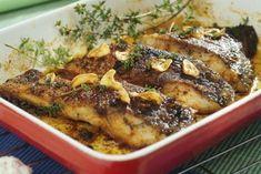 Grilovaný kapr po novohradsku s česnekem Sushi, Pork, Chicken, Meat, Cooking, Kale Stir Fry, Pigs, Cubs, Sushi Rolls