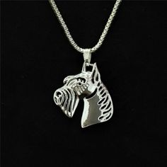 Gold/Silver Plated Hollow Schnauzer Necklace