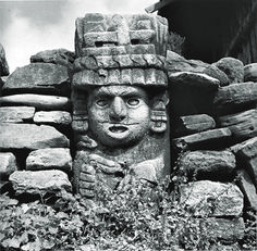 The late Juan Rulfo is known as one of Latin America's literary greats. But not many people are aware that he was also a photographer, whose film work of difference places in his homeland in the and gives us a glimpse of the Mexico of a bygone era. Colombian Culture, Turn To Stone, Western Caribbean, Mesoamerican, Mayan Ruins, Ancient Artifacts, Stone Carving, Ancient Civilizations, Historical Photos