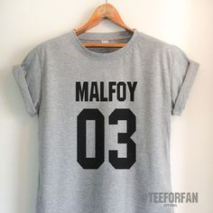Harry Potter Shirts Harry Potter Merchandise Draco Malfoy Shirts t shirts Clothes Quidditch Jersey Top Tee for Women Girls Men