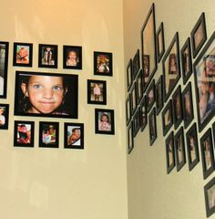 Velcro gallery wall! From Style with Cents