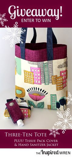 Three fabrics, ten steps, one lined tote bag tutorial, zero bottom seam