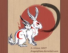Yumigami - The Crescent by Dygee.deviantart.com on @deviantART hare god of the moon