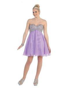 Lilac short prom homecoming dresses of 2013- 2014 New arrival
