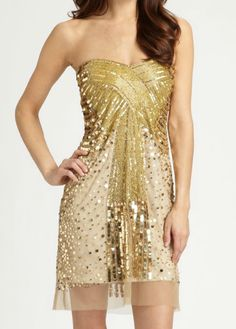 strapless sequin dress #newyears