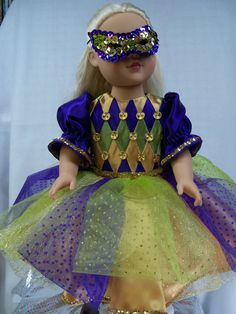 Mardi Gras Party Dress and Sequin Mask for von CaliberAboveTheRest