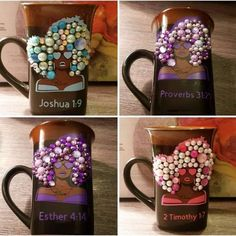 Wedding Wine Glasses, Diy Wine Glasses, Porcelain Mugs, Ceramic Mugs, Coffee Mug Crafts, Coffee Cups, Joe Coffee, Diy Plastic Bottle, Craft Online