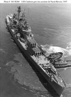 Pictures of the USS Canberra (CA-70) - Heavy Cruiser / Missile Cruiser.