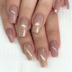 "If you're unfamiliar with nail trends and you hear the words ""coffin nails,"" what comes to mind? It's not nails with coffins drawn on them. It's long nails with a square tip, and the look has. Mauve Nails, Shiny Nails, Fancy Nails, Acryl Nails, Luxury Nails, Toe Nail Designs, Nail Swag, Gorgeous Nails, Trendy Nails"