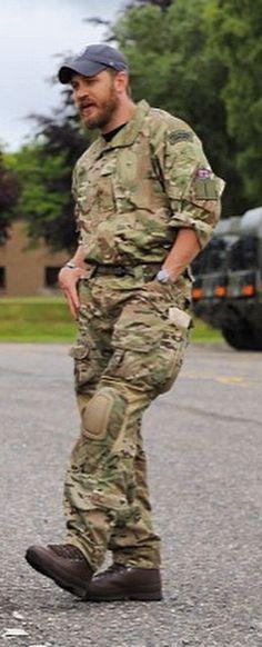 Tom Hardy . 45 Commando Royal Marines Arbroath, Scotland - July 13, 2015.