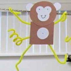 Super easy monkey craft.