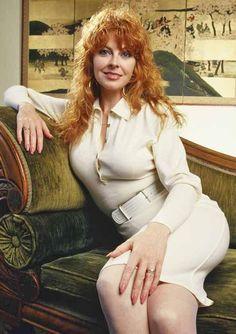 Cassandra Peterson taking a break from Elvira...