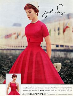 Jonathan Logan designed by Jeanne Carr 1956