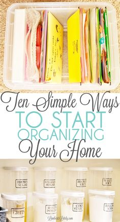 Organization Ideas planners Ten Simple Ways to Start Organizing Your Home Ready to start organizing your home, but don& know how to start? Grab a few ideas for starting your house organization process to clean and declutter your space for good! Deep Cleaning Tips, House Cleaning Tips, Spring Cleaning, Cleaning Hacks, Weekly Cleaning, Home Organization Hacks, Organizing Your Home, Organizing Ideas, Organising Hacks