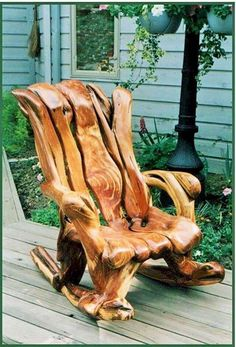 Here you can see another chair in the picture below, this chair is looking same like a wooden tree. Placing this chair outside in the lawn is just a great idea that can impress anyone. Making this chair needs just some woods and some nails that's all.