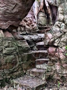 This Waterfall Staircase Hike May Be The Most Unique In All Of Minnesota - But another stone staircase will bring you to an equally beautiful sight. It's a short section of - Best Places To Camp, Cool Places To Visit, Places To Travel, Travel Stuff, Vacation Trips, Day Trips, Vacations, Vacation Spots, Minnesota Hiking