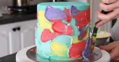 This cake looks about as good as it tastes. Rosie from Rosie's Desert Spot has graced us with another mesmerizing cake recipe. If you're someone who loves the look of bold, vibrant colors and the rich taste of chocolate, this cake is going to rock your world. Using a simple technique with her cake stand,...