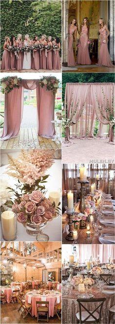 Dusty rose wedding ideas / http://www.deerpearlflowers.com/28-dusty-rose-wedding-color-ideas/2/