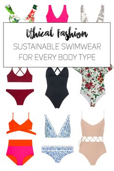 Eco friendly Swimsuits for every body type - ethical fashion and sustainable fashion