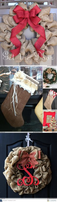 Burlap Christmas @Brandy Waterfall Waterfall Waterfall Martin ... craft date soon?
