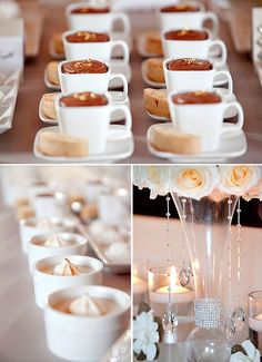 Mixed offering Sweets Table - order by peice from your caterer or bakery and give items fun names on labels that tie in your theme. Keep costs down & add fun by using the same template as your place cards!
