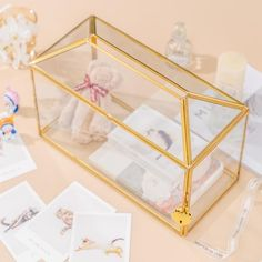 Standard Large Geometric Glass Card Box Terrarium with Slot image 7 Glass Terrarium, Terrarium Ideas, Planter Ideas, Terrariums, Small Potted Plants, Thanks Card, Rose Gold Pink, Card Box Wedding, Congratulations Card