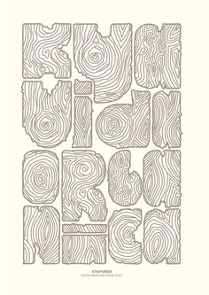 Fun wood typography by Valeria Pipet.